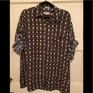 Pierre Cardin 100% rayon button up men's shirt XL